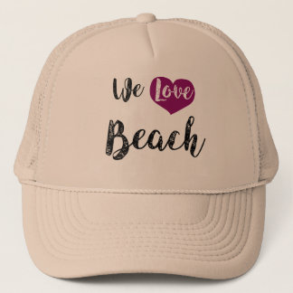 """We love Beach "" Retrokappen"