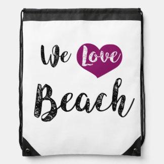 """We love Beach "" Sportbeutel"