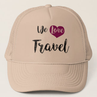 """""""We love Travel """" Truckerkappe"""