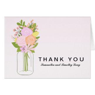 Weckglas danken Ihnen Wedding | Karte
