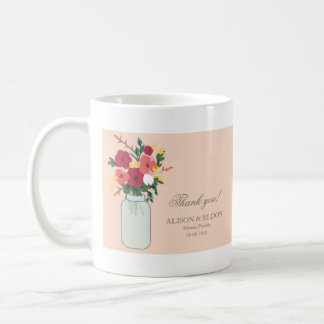 Weckglas-Hochzeits-Einladung - Pastellaprikose Kaffeetasse