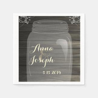 Weckglas-Hochzeits-Serviette Papierservietten
