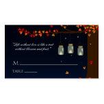 Weckglas-Leuchtkäfer-Eichen-Namenskarten Visitenkarte