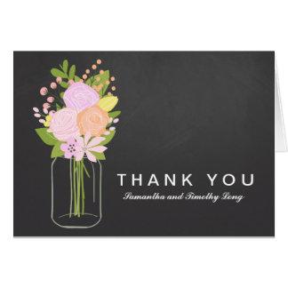 Weckglas-Tafel danken Ihnen Wedding | Karte