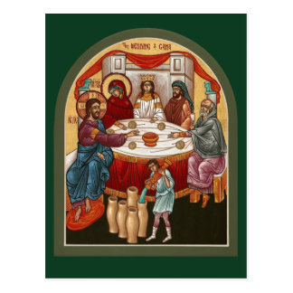 Wedding an der Cana Gebets-Karte Postkarte
