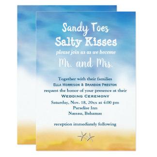 Wedding Aquarell-Sandy-Zehen laden - Himmel u. Karte