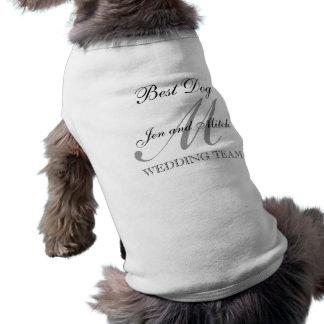 "Wedding ""bester Hunde"" Monogramm-Hundeshirt Ärmelfreies Hunde-Shirt"