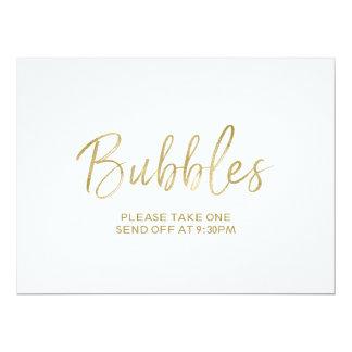 """Wedding """"Blasen"""" senden weg von Zeichen stilvolles Karte"""