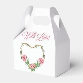 Wedding BlumenLiebe-Rosa-Rosewatercolor-Blumen Geschenkschachtel