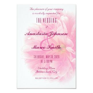 Wedding Brautblumenpfingstrosen-Blumechic-Karte Karte