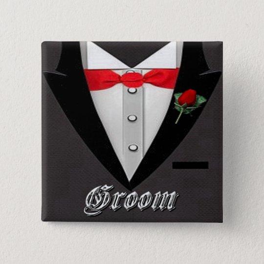 Wedding Bräutigam-Smokings-Knopf Quadratischer Button 5,1 Cm
