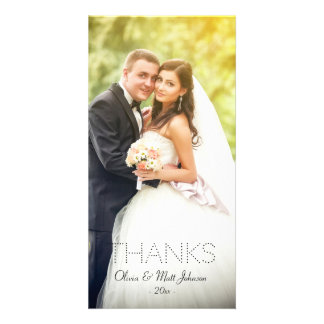 Wedding Dank-Foto-Karte Individuelle Fotokarte