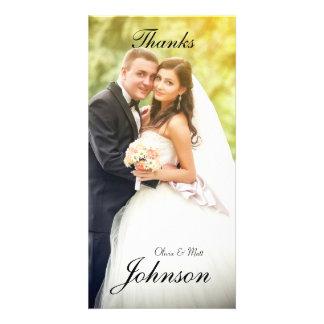 Wedding Dank-Foto-Karte Personalisierte Photo Karte