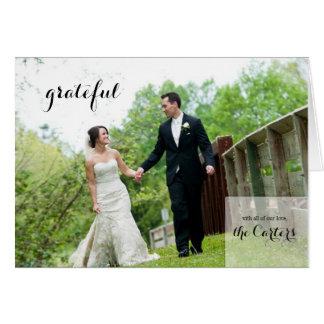 Wedding danken Ihnen Anmerkungs-Karte Mitteilungskarte