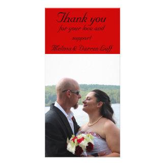 Wedding danken Ihnen Bild Karte