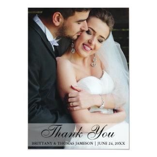 Wedding danken Ihnen Braut-u. Bräutigam-Foto-Karte Karte