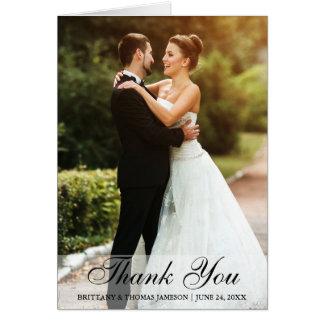 Wedding danken Ihnen Braut-u. Mitteilungskarte
