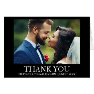 Wedding danken Ihnen die Schwarzweiss Grußkarte