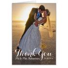 Wedding danken Ihnen Foto-Anmerkungs-Karte Karte