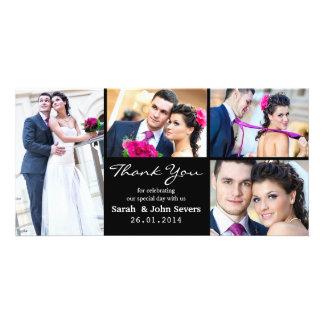 Wedding danken Ihnen Foto-Karte Fotokartenvorlage
