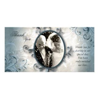 Wedding danken Ihnen Foto-Karte - Vintages Laub Karte