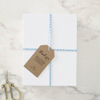 Wedding danken Ihnen Geschenk-Umbau - Kraftpapier Geschenkanhänger