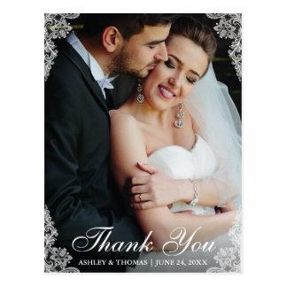 Wedding danken Ihnen, Grenzpaar-Foto euch zu Postkarte