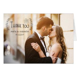 Wedding danken Ihnen Karte