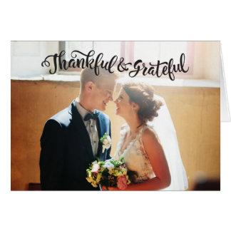 Wedding danken Ihnen Mitteilungskarten-Fotokarte Karte