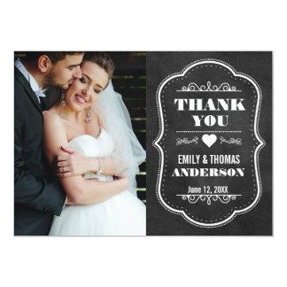 Wedding danken Ihnen moderner Tafel-Foto-Karte BW 12,7 X 17,8 Cm Einladungskarte