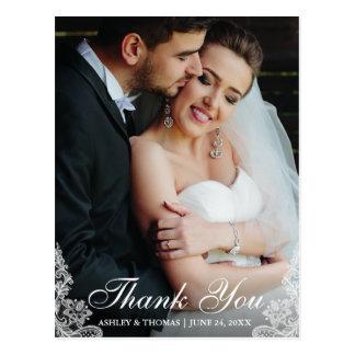 Wedding danken Ihnen, Ordnungs-Foto euch zu Postkarte