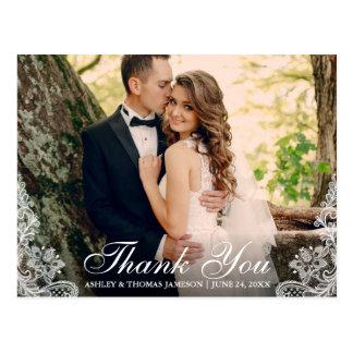 Wedding danken Ihnen, Ordnungs-Paar-Foto euch zu Postkarte