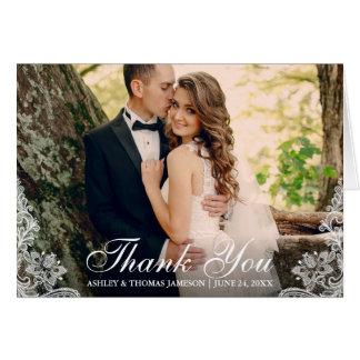 Wedding danken Ihnen, Ordnungs-Paar-Foto-Falte Karte