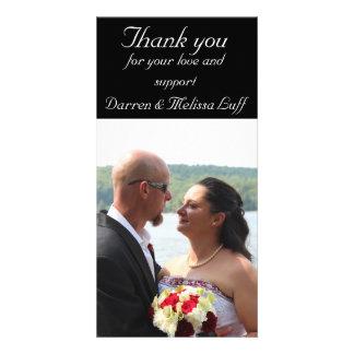 Wedding danken Ihnen Personalisierte Photo Karte