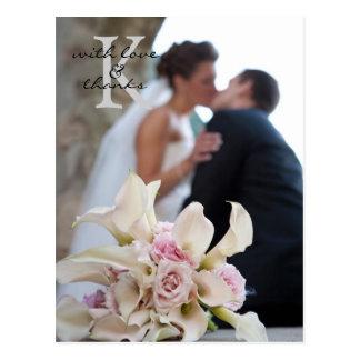 Wedding danken Ihnen, Postkarte zu merken