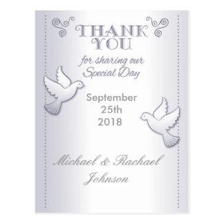 Wedding danken Ihnen PostkarteVintage Lovebirds Postkarte