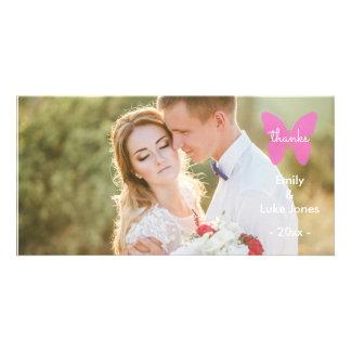 Wedding danken Ihnen - Schmetterlings-Foto-Karte Fotokarten