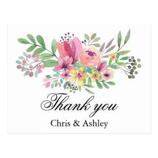 Wedding danken Ihnen, verheiratete Paare zu Postkarte