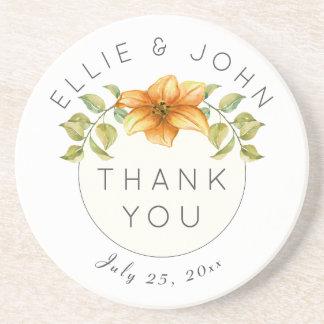 Wedding danken Ihnen, Watercolor-Stern-Blume zu Getränkeuntersetzer
