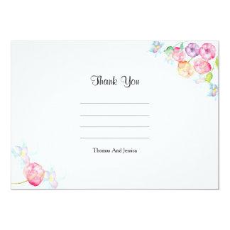 Wedding danken Ihnen zu kardieren 12,7 X 17,8 Cm Einladungskarte