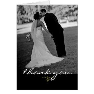 Wedding danken Ihnen zu kardieren Mitteilungskarte