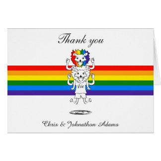 Wedding die Gay Pride-Flaggen-lustigen Löwen Karte