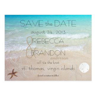 Wedding durch die Seeheirat-Mitteilungs-Postkarte Postkarte