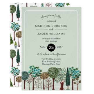 Wedding | Einladung des Baum-Waldwaldland|