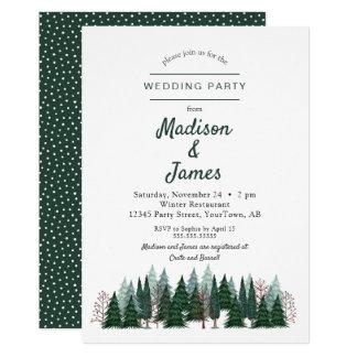 Wedding Einladung des Kiefern-Baum-des Wald 
