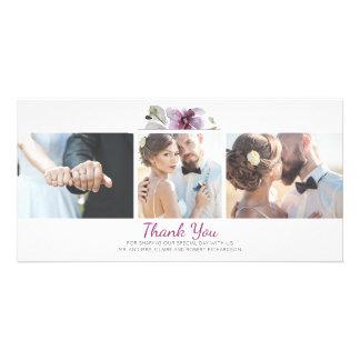 Wedding Fotos Pflaumedanken die Blumenwatercolor-3 Karte