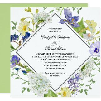 Wedding Geheimnis-Garten Boho Wildblumen Quadratische 13,3 Cm Einladungskarte