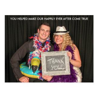 Wedding glücklich danken Ihnen seitdem Postkarte