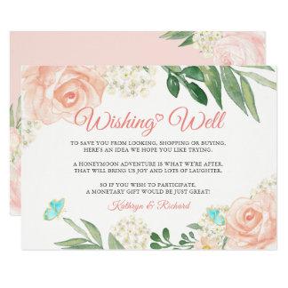 Wedding gut wünschen erröten das Blumen Karte