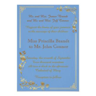 wedding hellblaues doppelseitiges klassisches 12,7 x 17,8 cm einladungskarte